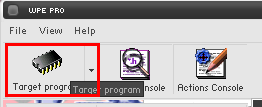 Targeting a program in WPE Pro.